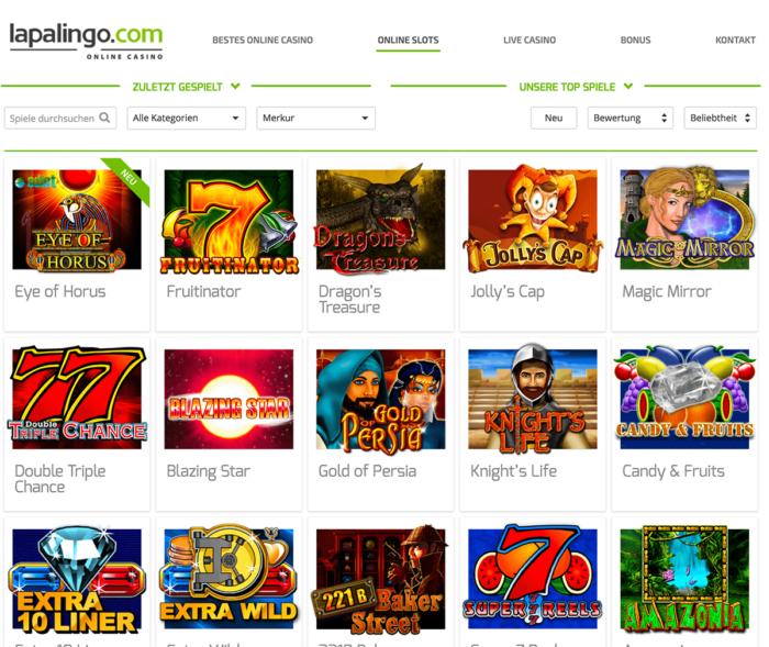 Lapalingo Casino Merkur Spiele